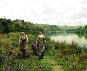Daniel Ridgway Knight - The Seine At Vernon