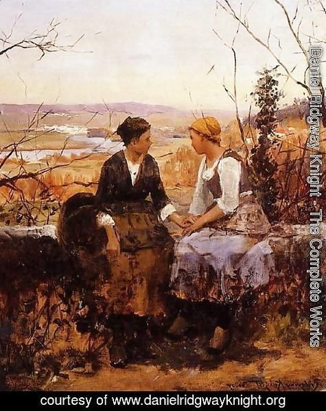 Daniel Ridgway Knight - The Two Friends