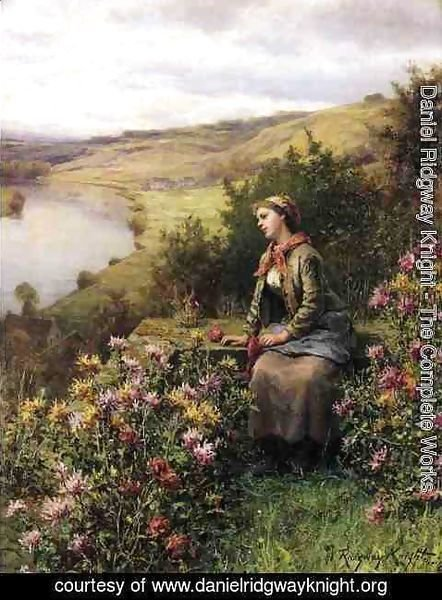 Daniel Ridgway Knight - Waiting