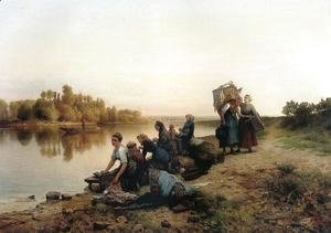 Daniel Ridgway Knight - Wash Day