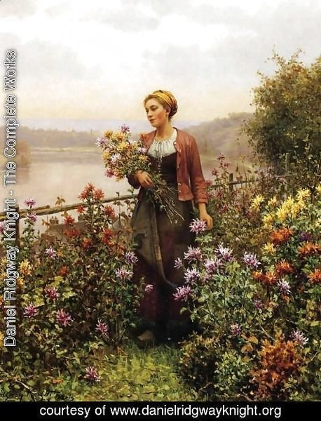 Daniel Ridgway Knight - Woman In A Garden