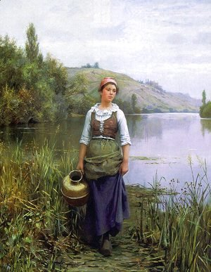 Daniel Ridgway Knight - By the Riverside